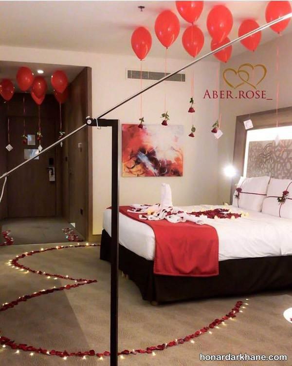 تزیین عاشقانه اتاق عروس