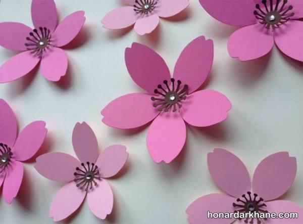 ساخت گل های مقوایی