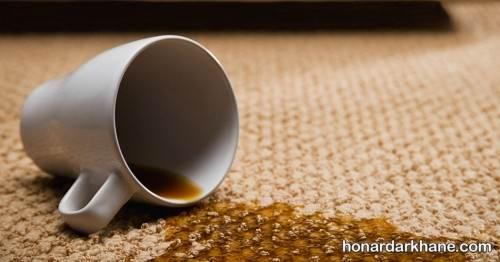 پاک کردن لک چای