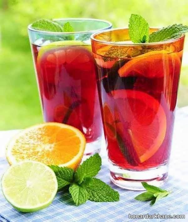 تزیین لیوان برای شربت