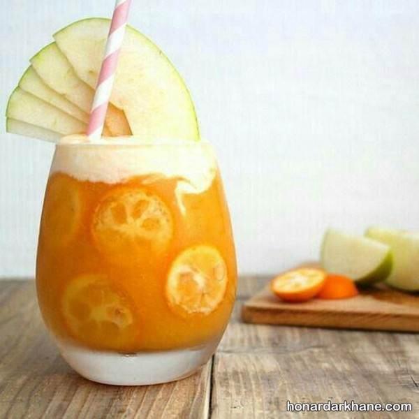 تزیین لیوان آبمیوه