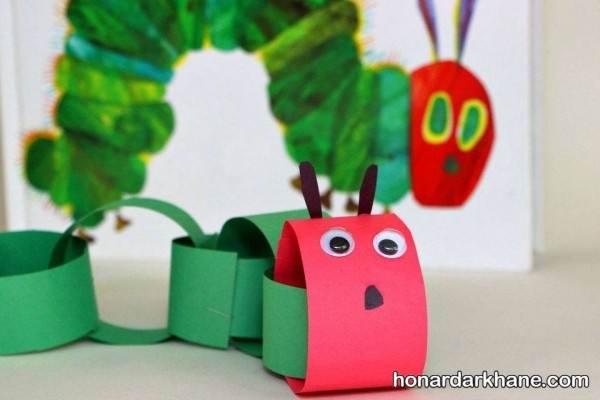 کاردستی کودکانه با کاغذ رنگی