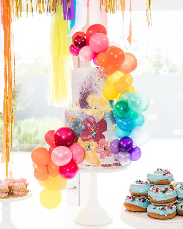 تم جشن تولد رنگارنگ