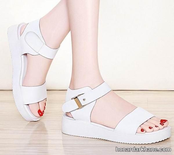 کفش تابستانی سفید دخترانه