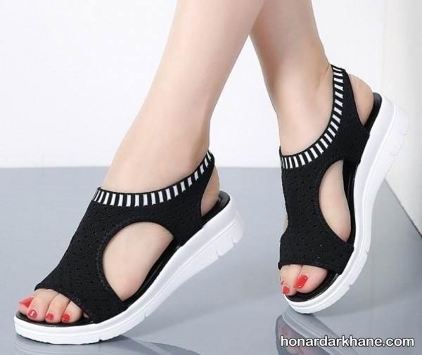 کفش دخترانه سیاه و سفید