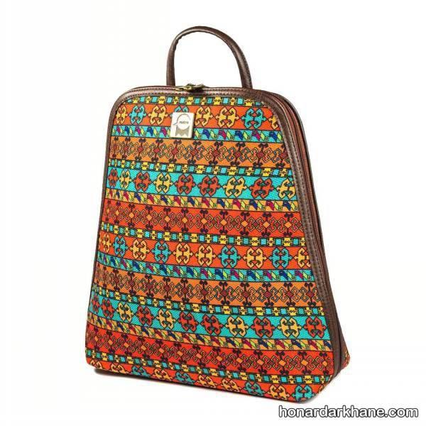 کوله پشتی با پارچه سنتی
