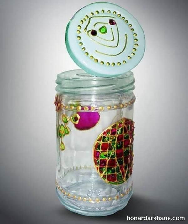 نقاشی کردن روی شیشه مربا