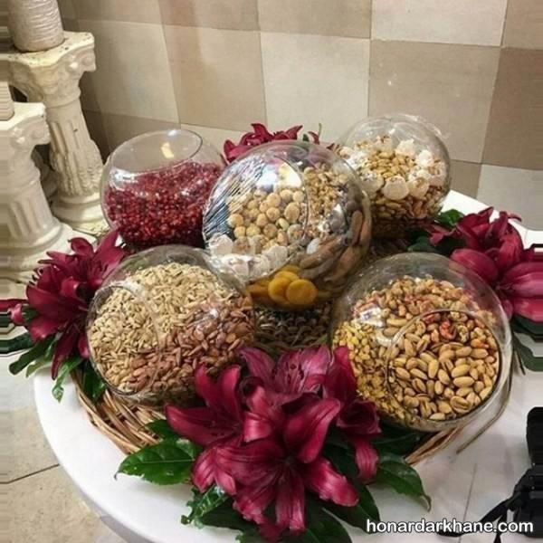 تزیین آجیل برای عیدی عروس