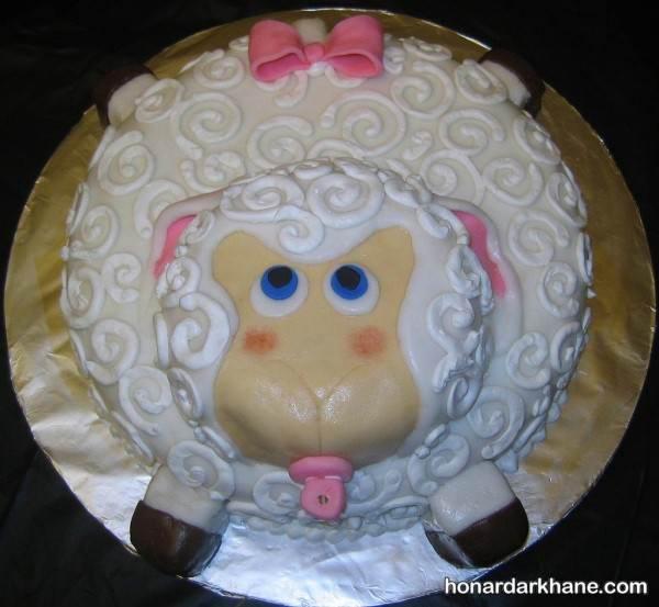 تزیین کیک به شکل گوسفند