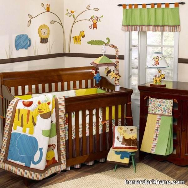 تزیین کمد وسایل برای نوزاد