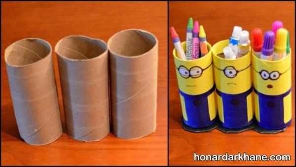 ساخت جامدادی با رول دستمال کاغذی