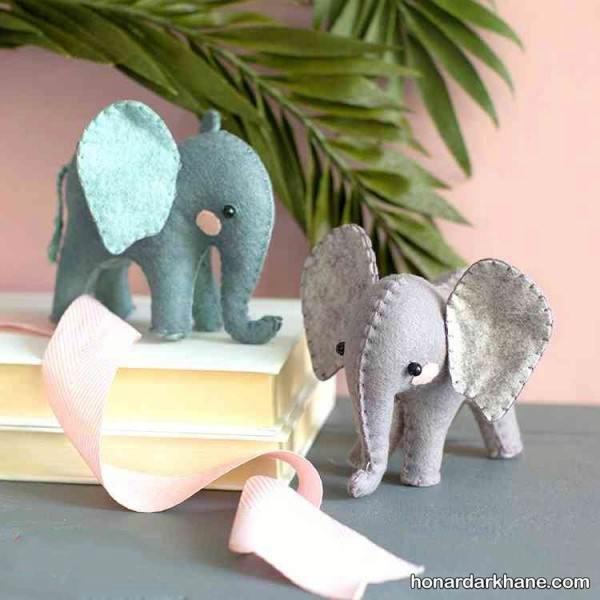 کاردستی فیل نمدی