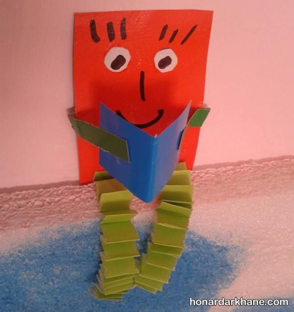 ساخت کاردستی مهد کودک با کاغذ