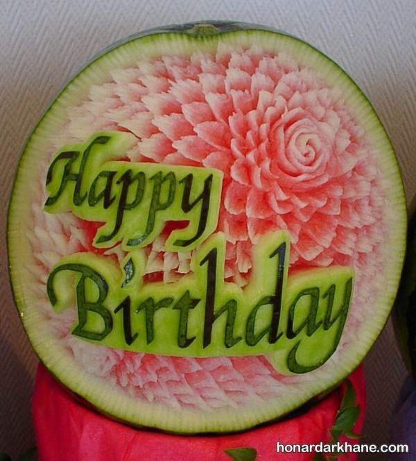 تزیین هندوانه برای جشن تولد