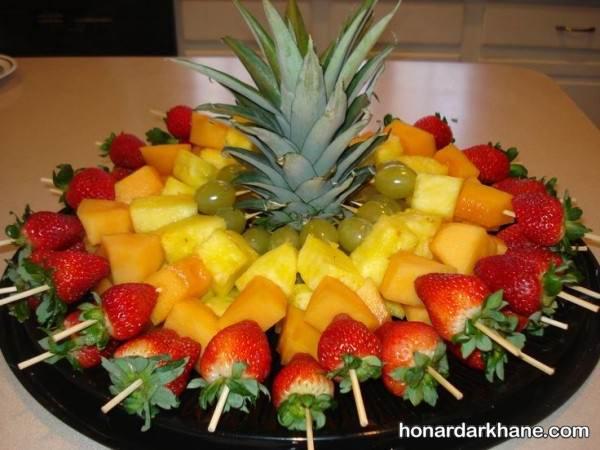 تزیین میوه جدید و ساده