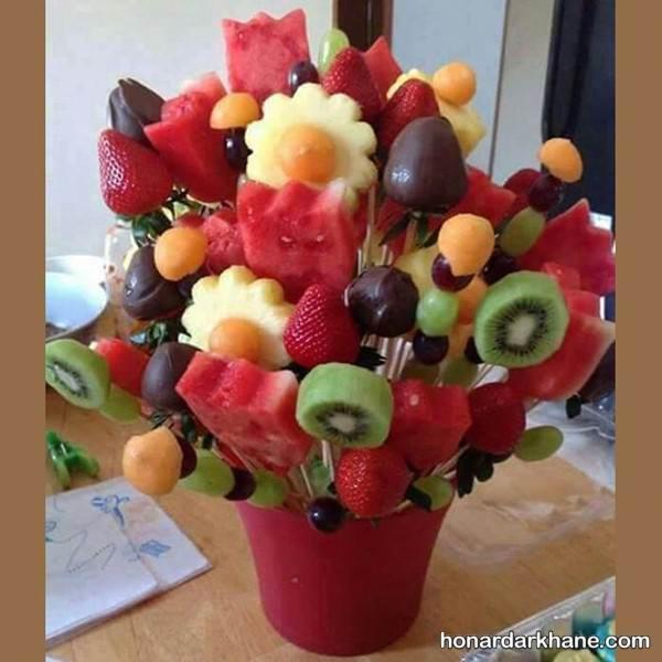 تزیین میوه ساده