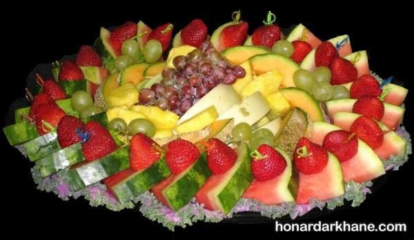 تزیین میوه های خرد شده