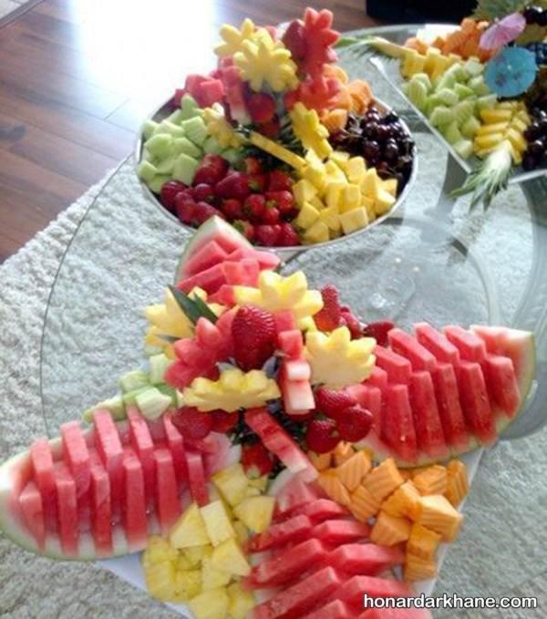 تزیین کردن میوه های خرد دشه