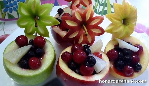تزیین میوه جدید و زیبا برای مهمانی