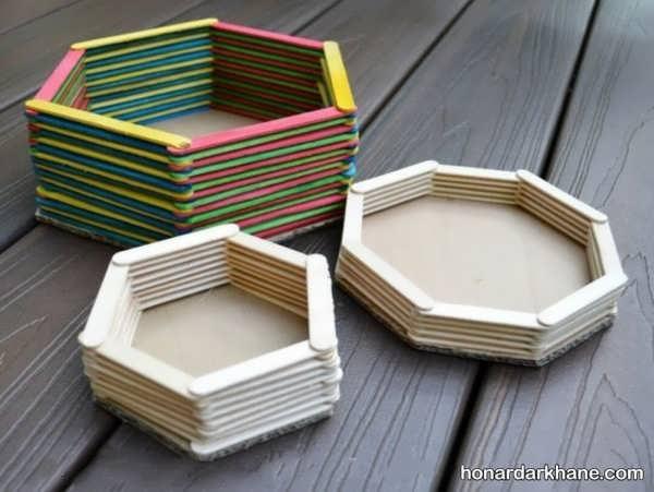 تولید جعبه های بی نظیر با چوب بستنی