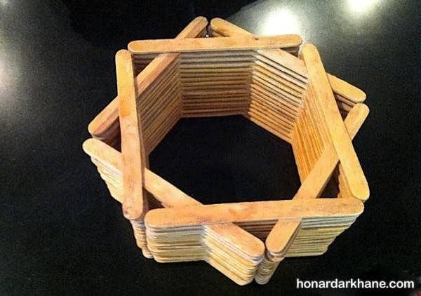 آموزش کودکان برای ساخت وسایل با چوب بستنی