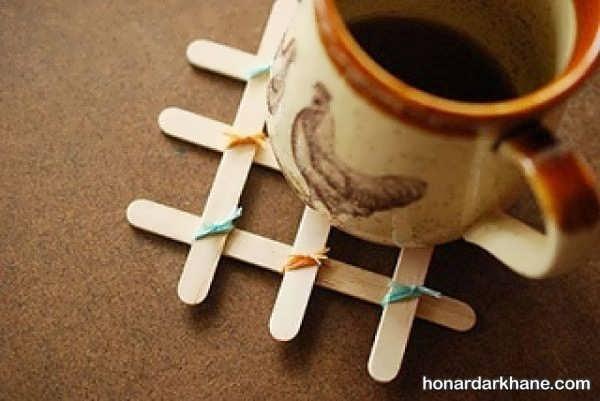 ساخت کاردستی با رنگ آمیزی چوب بستنی