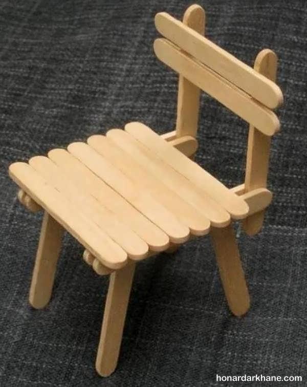 خلاقیت با چوب بستنی و ایجاد مدل های جدید با آن