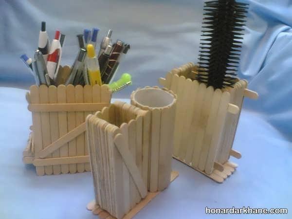 استفاده از چوب بستنی در ساخت اشیا کاربردی