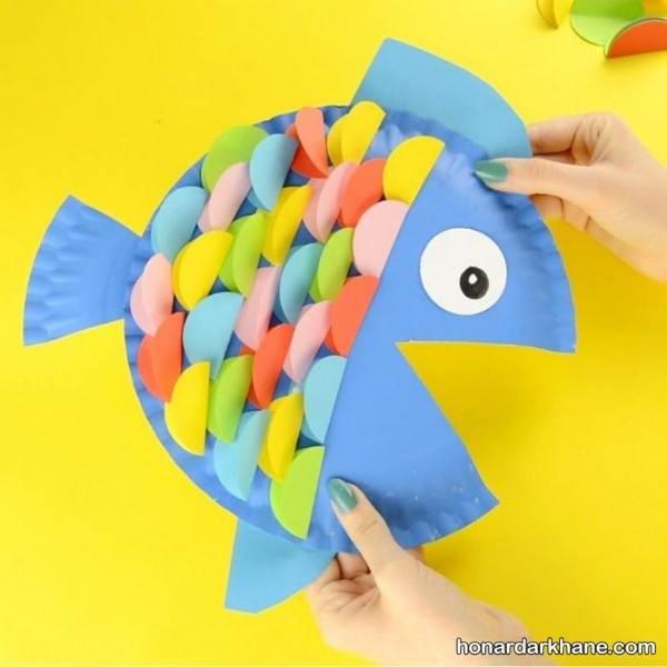 کاردستی ماهی با کاغذ رنگی