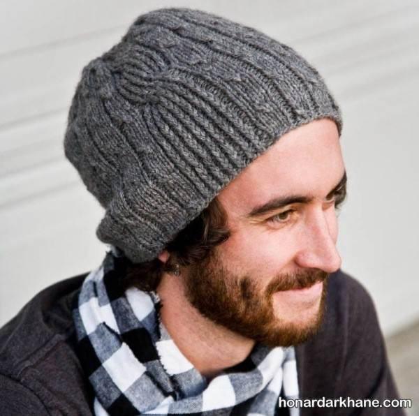 مدل کلاه بافتنی مردانه جدید