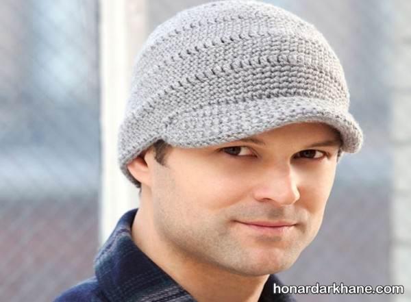 مدل کلاه بافتنی قاب دار