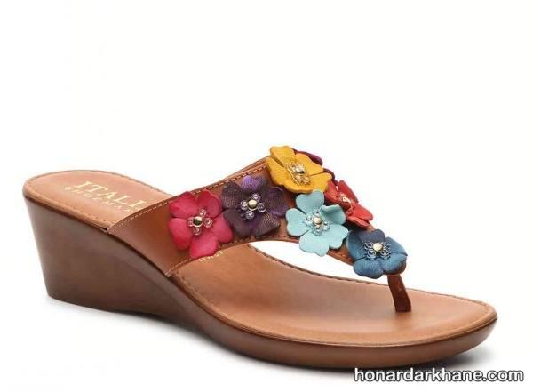 کفش روفرشی گلدار