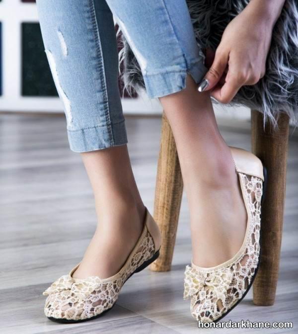 مدل کفش روفرشی زنانه و دخترانه جدید و شیک