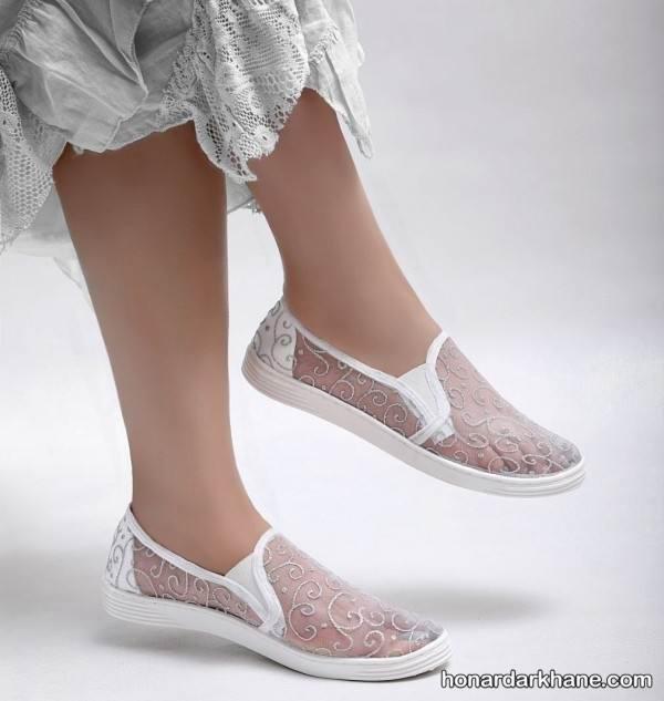 کفش روفرشی توری