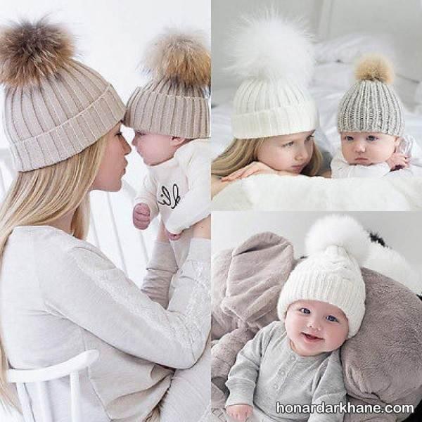 ست کلاه مادر و نوزاد