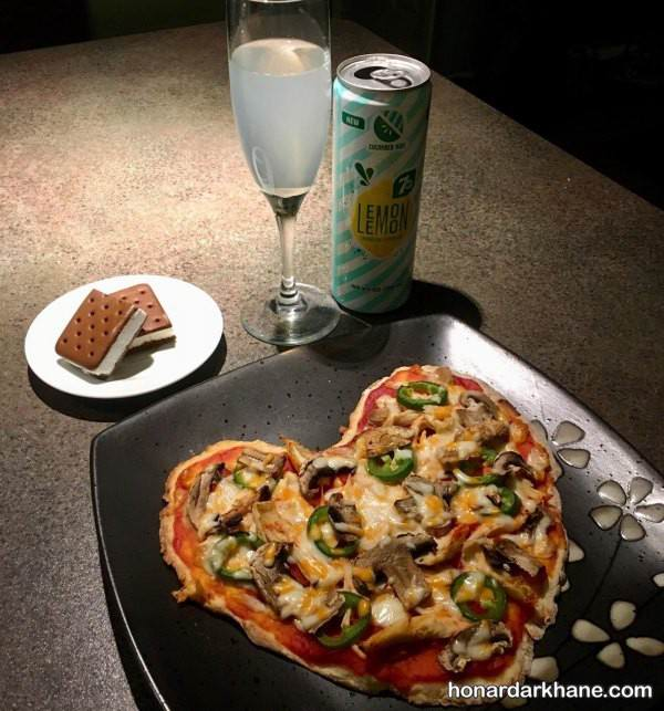 تزیین غذای دونفره رمانتیک