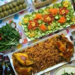 تزیین غذای دونفره