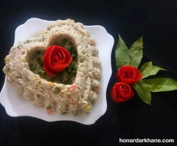 تزیین غذای عاشقانه و رمانتیک