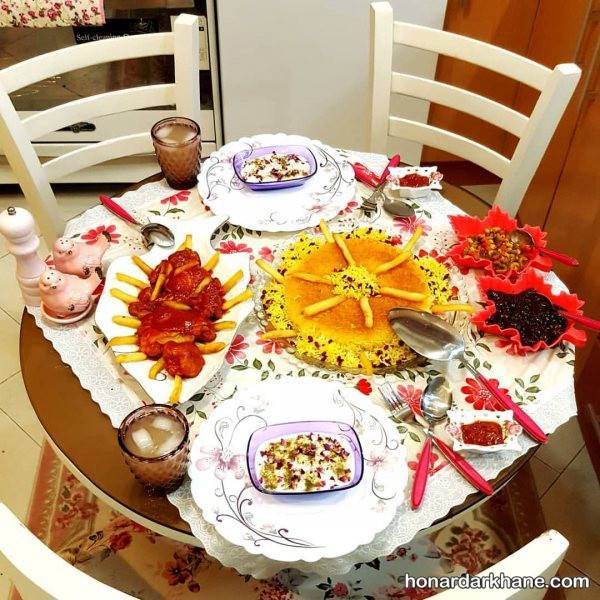 تزیین میز شام عاشقانه