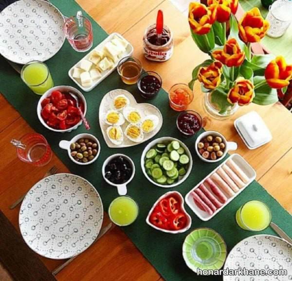 تزیین میز صبحانه