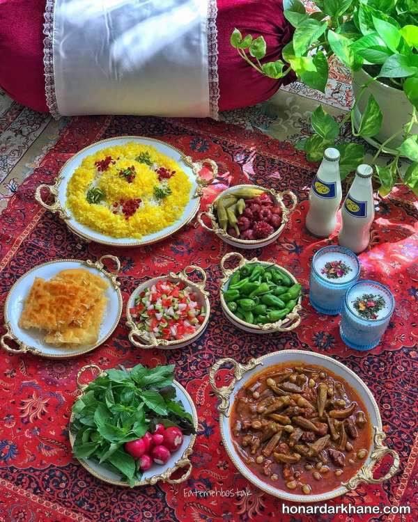 تزیین غذا برای مهمان