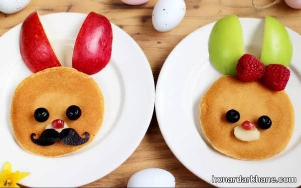 تزیین صبحانه کودک با میوه های خوشمزه