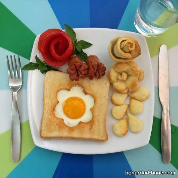 ساخت ساندویچ های جالب برای صبحانه