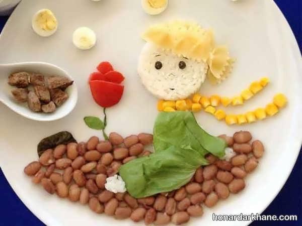 زیبا کردن ظرف صبحانه با اشکال مختلف
