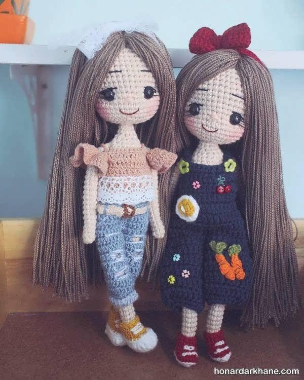 ساخت عروسک های بافتنی جالب