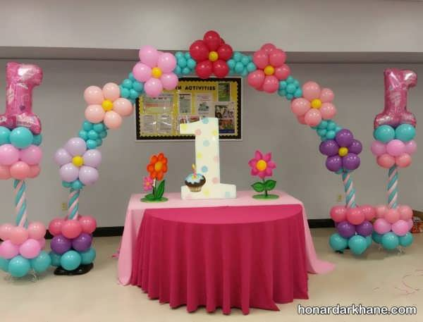 انواع تزیین منزل برای تولد با بادکنک های زیبا