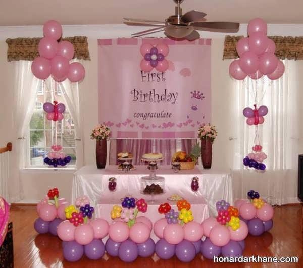 انواع تزیین منزل برای تولد با تم عاشقانه