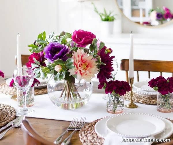 تزیین میز با شیوه ای جالب