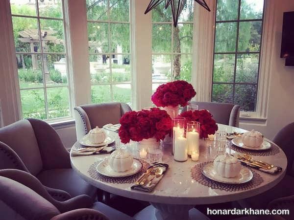 تزیین میز غذا خوری به شکلی زیبا