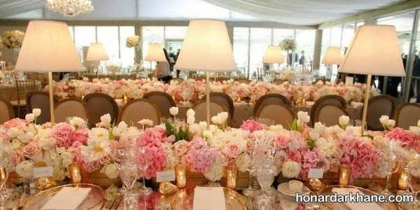 تزیین میز با گل های رنگی و زیبا